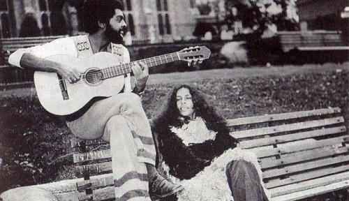 Gilberto Gil e Gal Costa em Londres, 1971